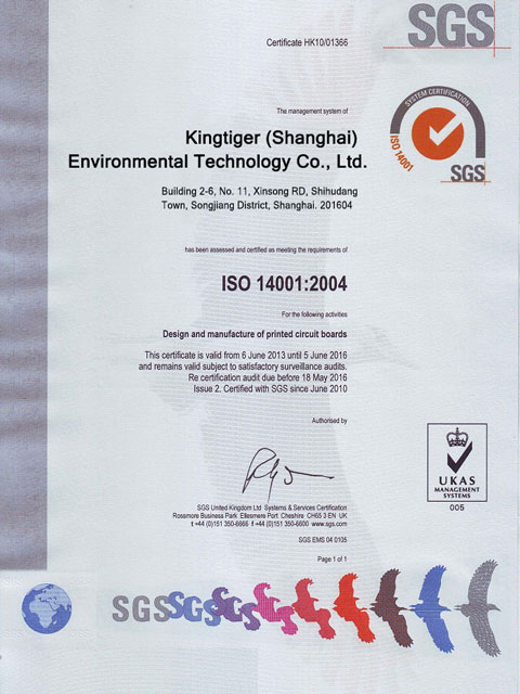 Certifications of Kingtiger