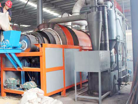 Low price biomass and sludge carbonization machine