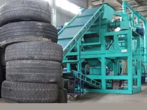 tyre waste recycling plant