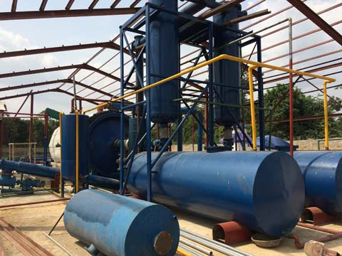 quality waste rubber pyrolysis recycling machine for sale