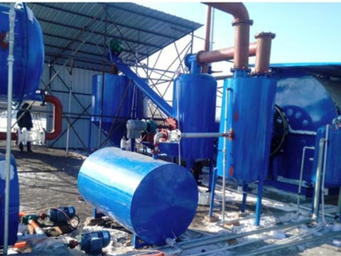 tire oil recycling to diesel fuel plant