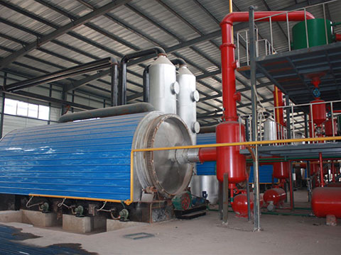 Waste tires oil refining equipment in China