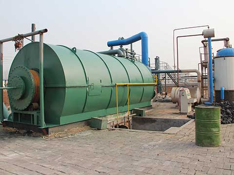 Waste plastic pyrolysis and recycling plant
