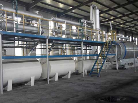 Continuous pyrolysis plant in China