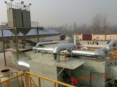 Fully automatic waste solid pyrolysis system in China