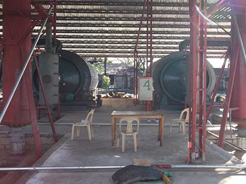 Recycling plant waste tyres
