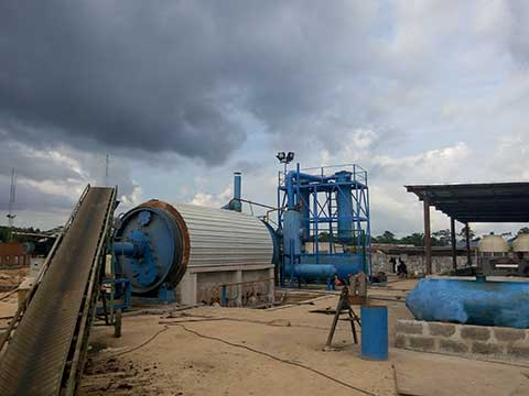 waste tyre pyrolysis plant cost in China
