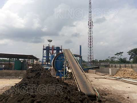 Fully automatic oil sludge pyrolysis plant