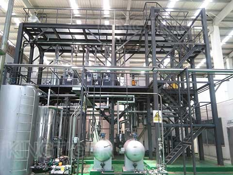 Conversion of pyrolysis oil to diesel oil plant