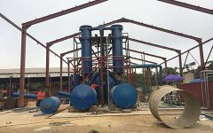 Waste processing machine