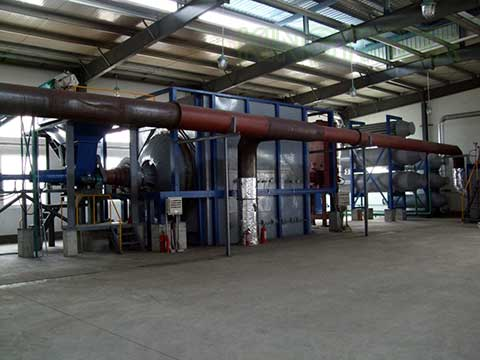 Tire waste to oil plant