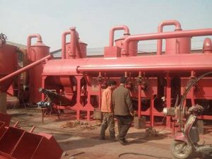 Palm kernel shell carbonized machine
