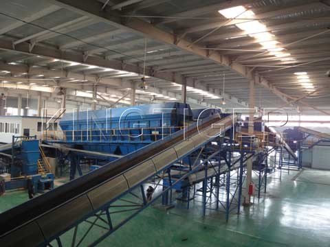 Waste separation plant
