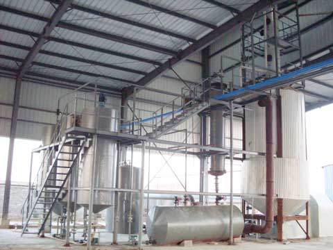 Used lube oil re refining plant for sale