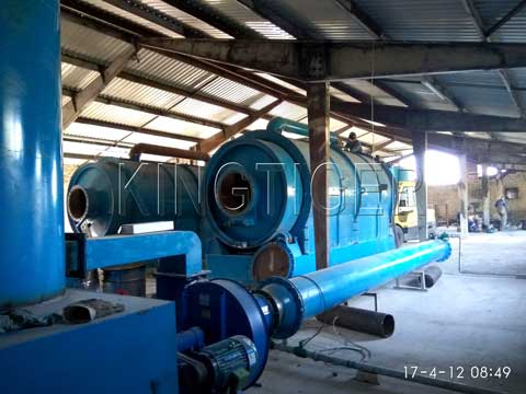 Waste rubber recycling plant