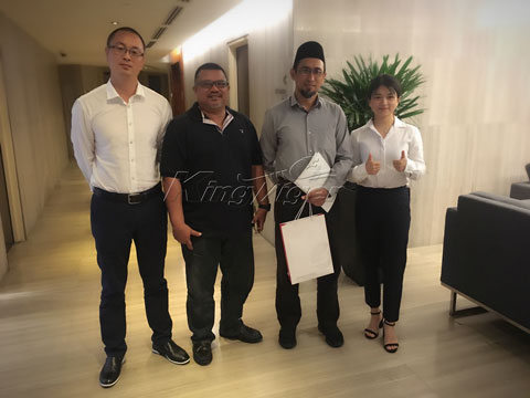 Kingtiger team visited Malaysia customers