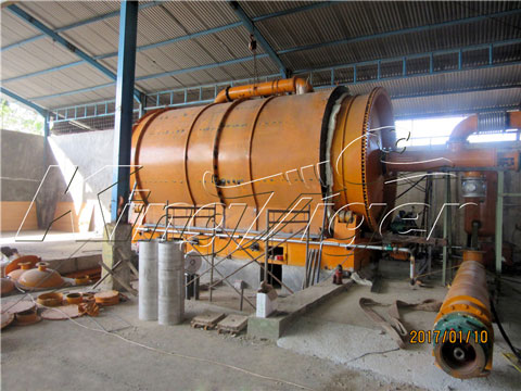 batch waste tyre oil extraction machine