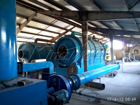 plastic to oil pyrolysis plant