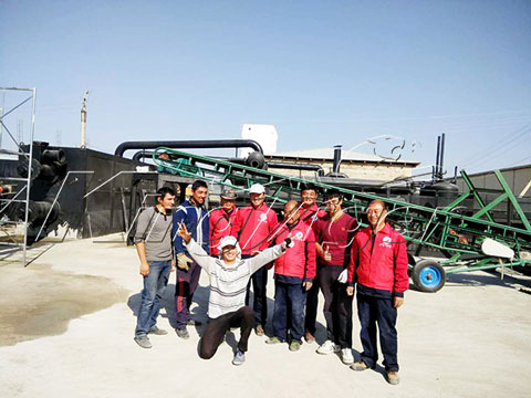 Continuous Waste Tire Pyrolysis Machine
