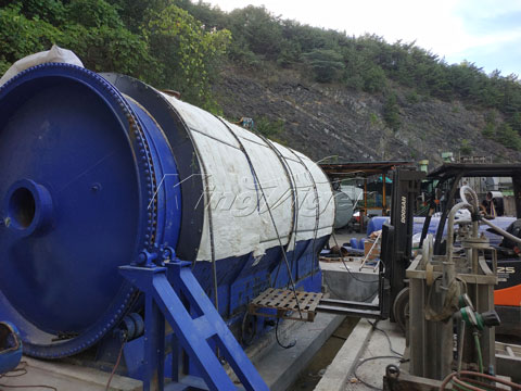 Rubber Recycling Pyrolysis Plant Installed in Korea