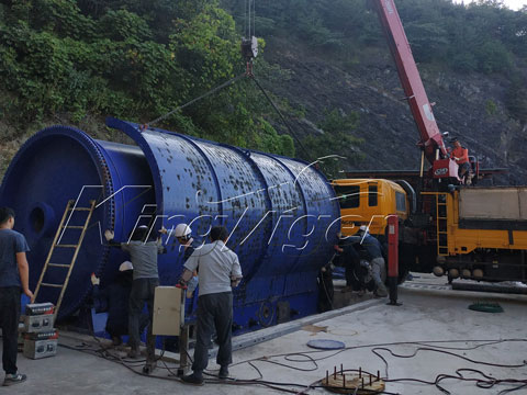 Rubber Recycling Pyrolysis Plant in Korea