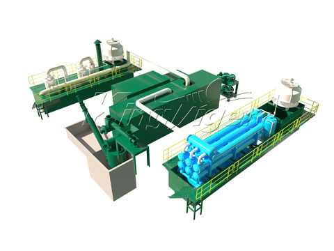 full automatic waste tire pyrolysis plant for sale