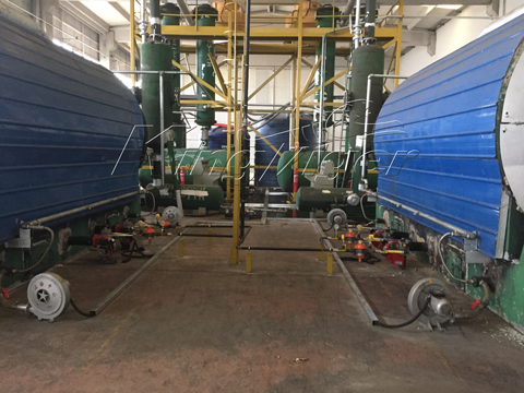 waste rubber pyrolysis machines