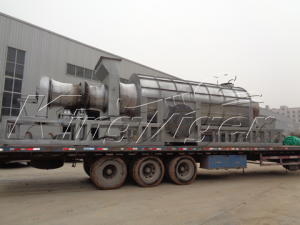 Kingtiger BST-12 Palm Kernel Shell Charcoal Machine Shipped to Ghana